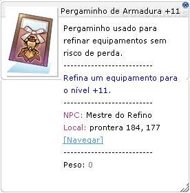 Pergaminho de Armadura +11