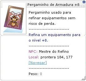 Pergaminho de Armadura +8