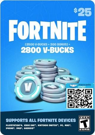 2800 V-bucks - Fortnite