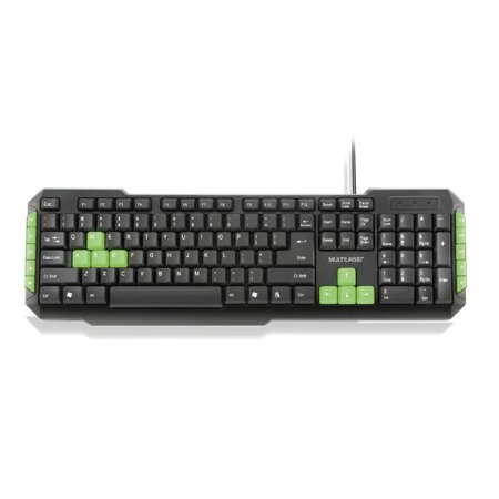 Teclado Gamer Multimidia Multilaser TC201 Teclas Verde Usb