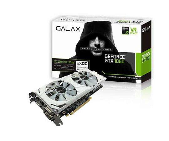 Placa de Video Galax Gtx 1060 Exoc 6GB Branca 60NRH7DVM3VW