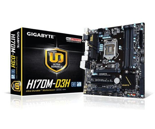 PLACA MÃE GIGABYTE GA-H170M-D3H DDR4 1151