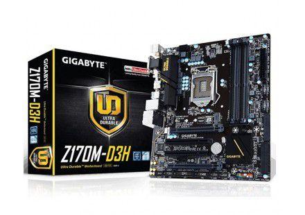 Placa Mae Gigabyte GA-Z170M-D3H DDR4 1151