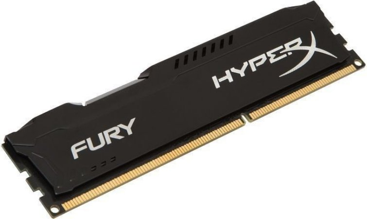 Memória Kingston HyperX 4GB 1600MHz DDR3 CL10 DIMM FURY Black Series HX316C10FB/4