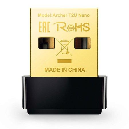 Adaptador Wireless TP-Link USB AC600 Archer T2U Nano