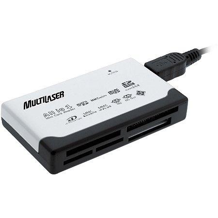 Leitor de Cartão de Memoria USB 46 em 1 Multilaser AC076