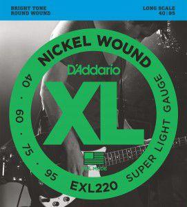 Encordoamento Baixo D'Addario EXL220-4 .040-.095
