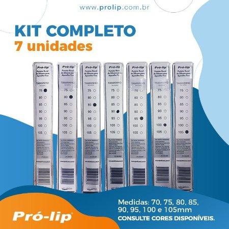KIT COMPLETO - 7 UNIDADES (75, 80, 85, 90, 95, 100 e 105mm)