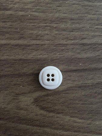 Botão Branco 4 Furos - 2