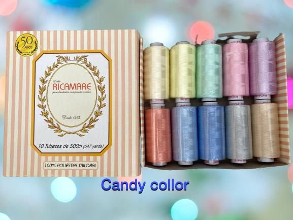 Kit Ricamare - 10 Tubetes - Candy Color