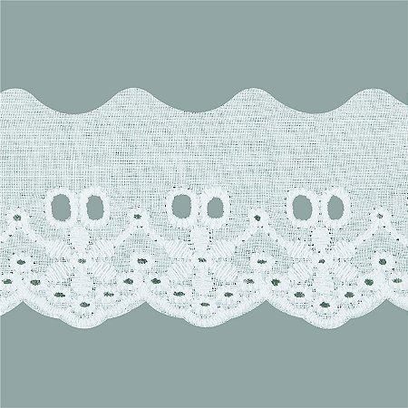 Bordado inglês algodão com passa fita - Peça PA009
