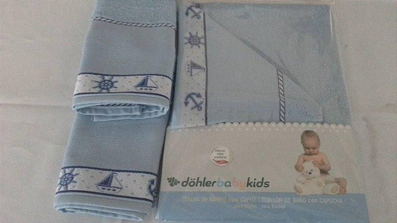 Kit Toalha Capuz + Lavabo Baby KIDS