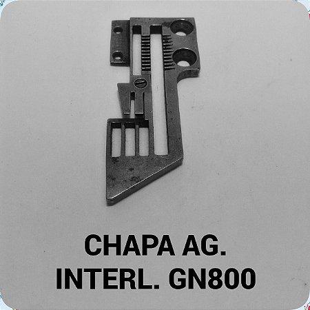 Chapa de Agulha Interloque GN800