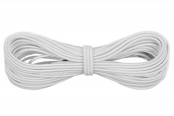 Elástico Roliço - Branco - 20 metros