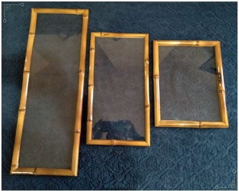 B15 Bandeja Jericoacoara G em bambu com Vidro retangular, vidro resistente 60x20