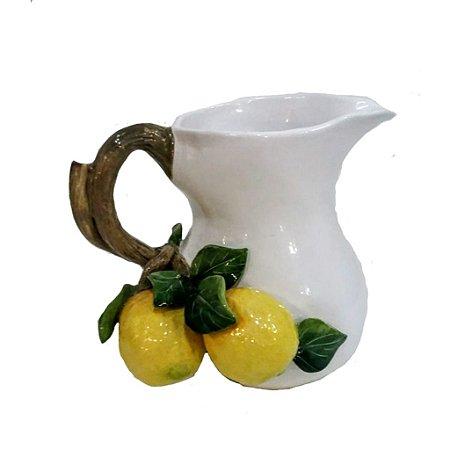 5010 - Jarra em cerâmica com limão H=24 cm, L= 16,5 cm, C= 19 cm