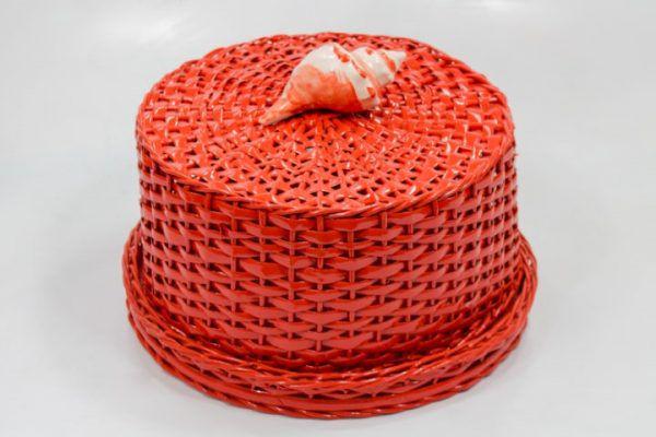 Porta queijos em vime 28x15 cm