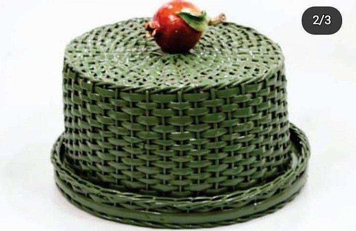 Boleira ou porta queijos com romã