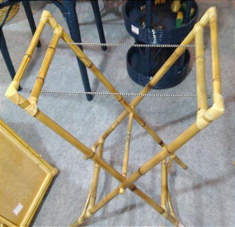 Suporte em bambu natural para bandeja 65x58 cm