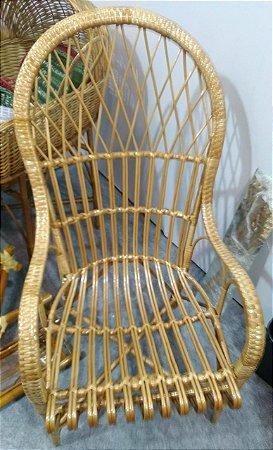 Cadeira pavão vime