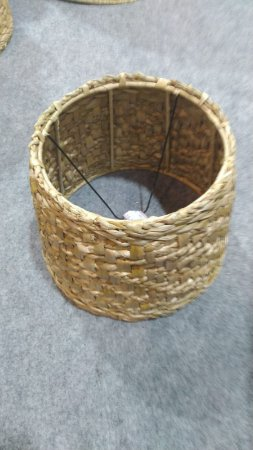 Cúpula ou pendente em taboa natural trança 25x30x22