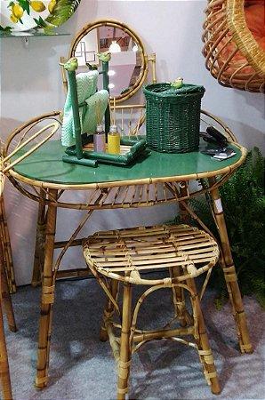 Penteadeira com banqueta em bambu natural