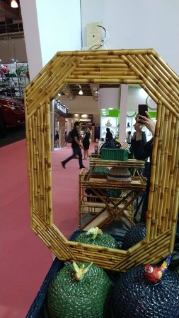 Espelho em bambu natural 102x71