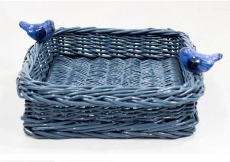 Porta guardanapo  vime azul cinza  petróleo