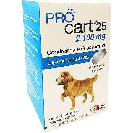 Procart 25 Kg 2100 mg 60 Comprimidos - Validade:30/11/2021