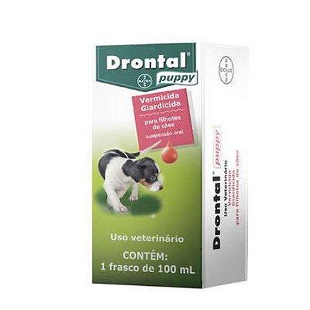 Drontal Puppy Vermífugo Filhote 100 ml - Vencimento:30/09/2021