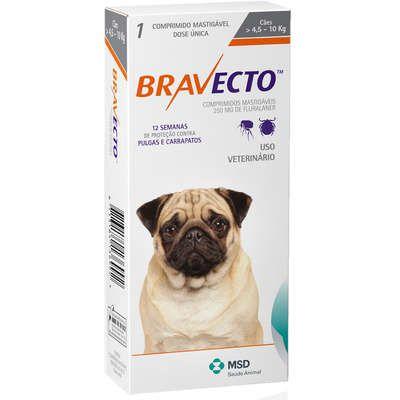 Bravecto 250 mg 4 até 10 Kg