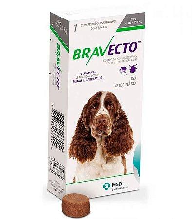 Bravecto 500 mg 10 até 20 Kg