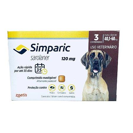 Simparic 120 mg 40 a 60 Kg 1 Comprimido