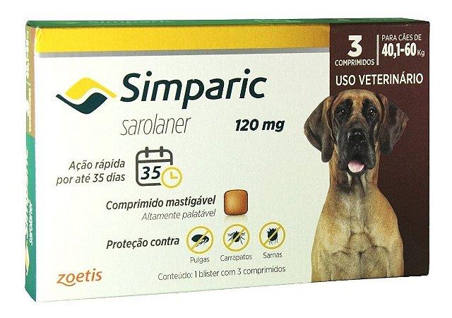 Simparic 120 mg 40 a 60 Kg 3 Comprimidos