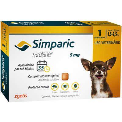 Simparic 05 mg 1,3 a 2,5 Kg 1 Comprimido