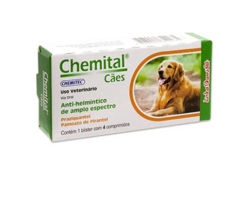 Chemital Cães 4 Comprimidos