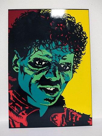 Placa decorativa Michael Jackson