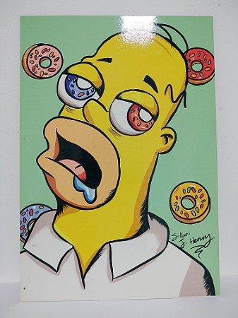 Placa Decorativa Homer Simpson