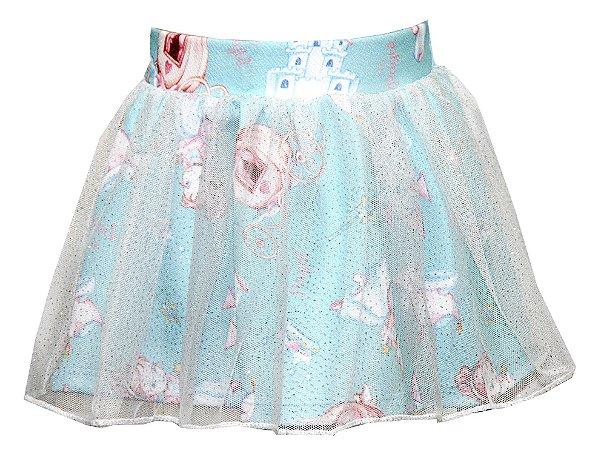 Saia Infantil Menina Princesa Azul