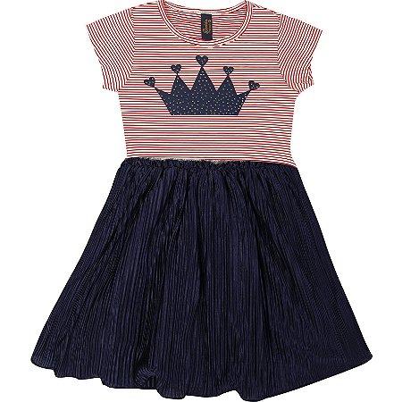 Vestido Infantil Menina Saia Plissada Vermelho