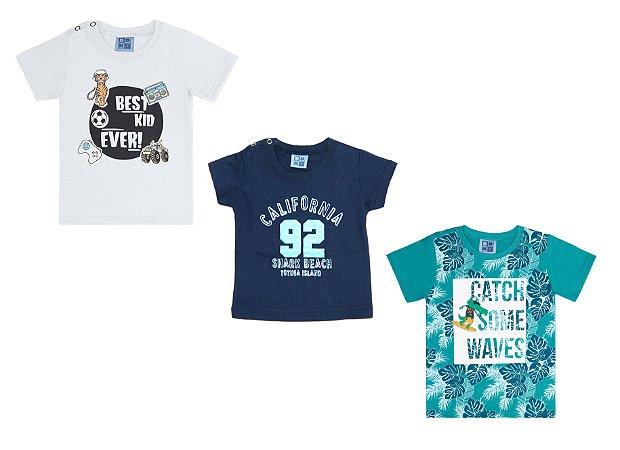 Kit 3 Camisetas
