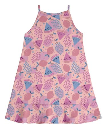Vestido Infantil Menina Melancia Rosa