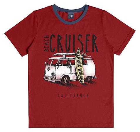 Camiseta Infantil Menino Cruiser Vermelha