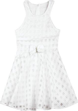 Vestido em Chiffon Branco