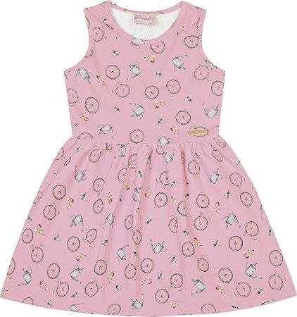 Vestido Bebê Menina Bicicleta Rosa