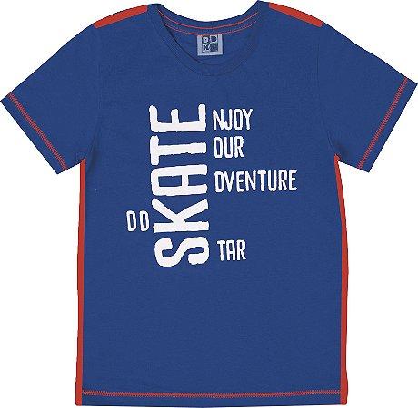 Camiseta Infantil Menino Skate Azul