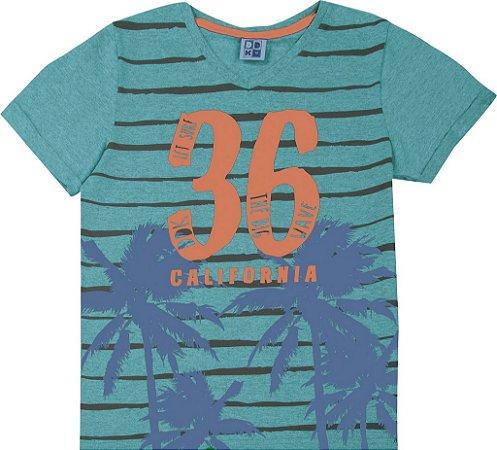 Camiseta Juvenil Menino California Verde