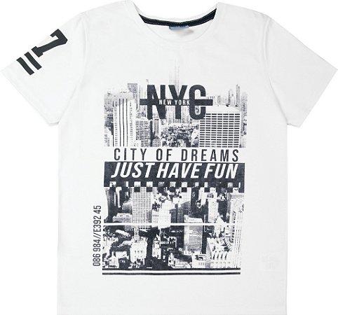 Camiseta Juvenil Menino Nova York Branco