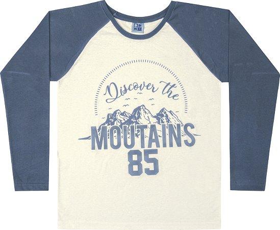 Camiseta Juvenil Menino Moutains Azul