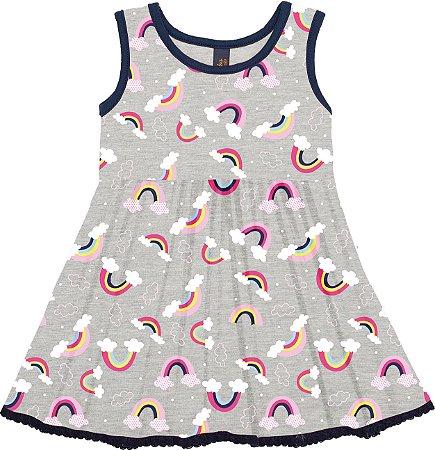 Vestido Bebê Menina Arco-Íris Mescla